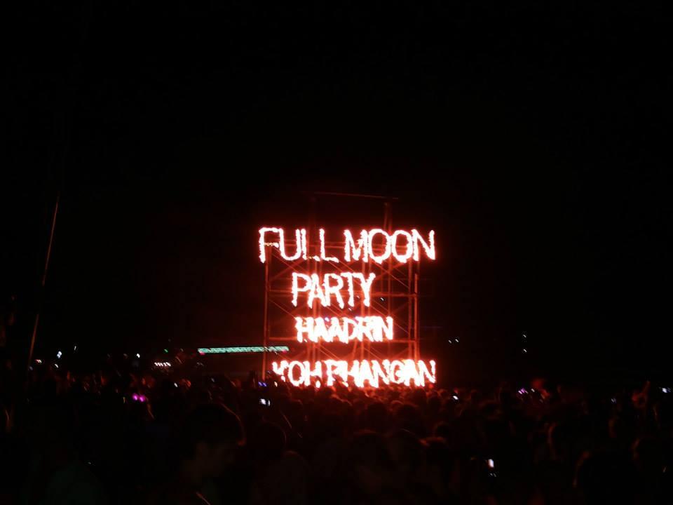 full moon party haad rin beach