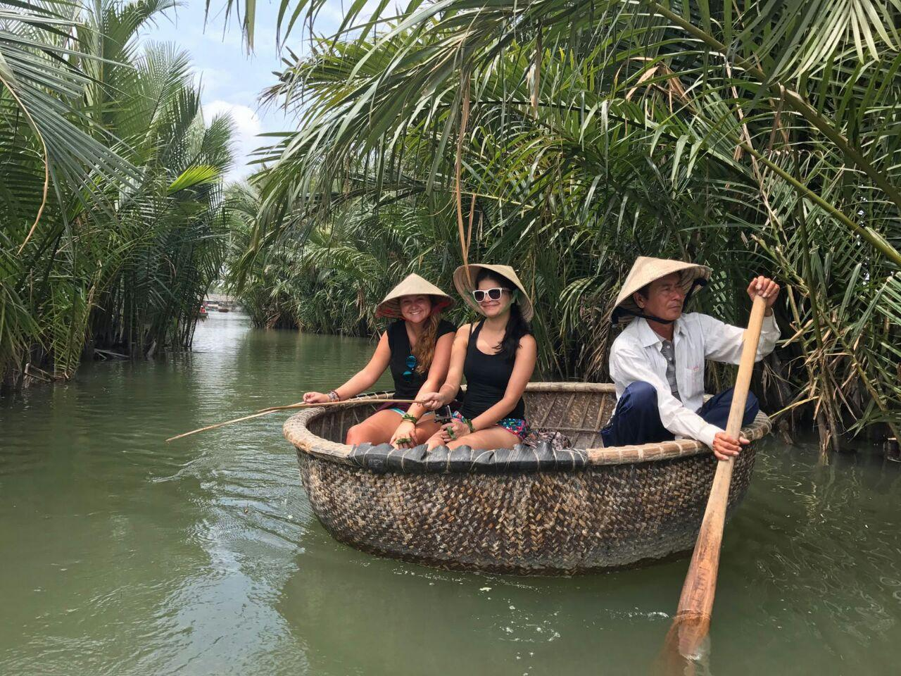 Crab Fishing on a Bamboo Boat - Immersing in Hoi An's Simple Life