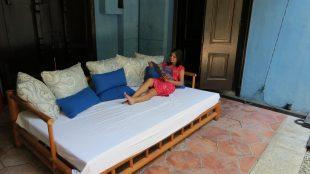 Chilling like a queen at The Blue Mansion