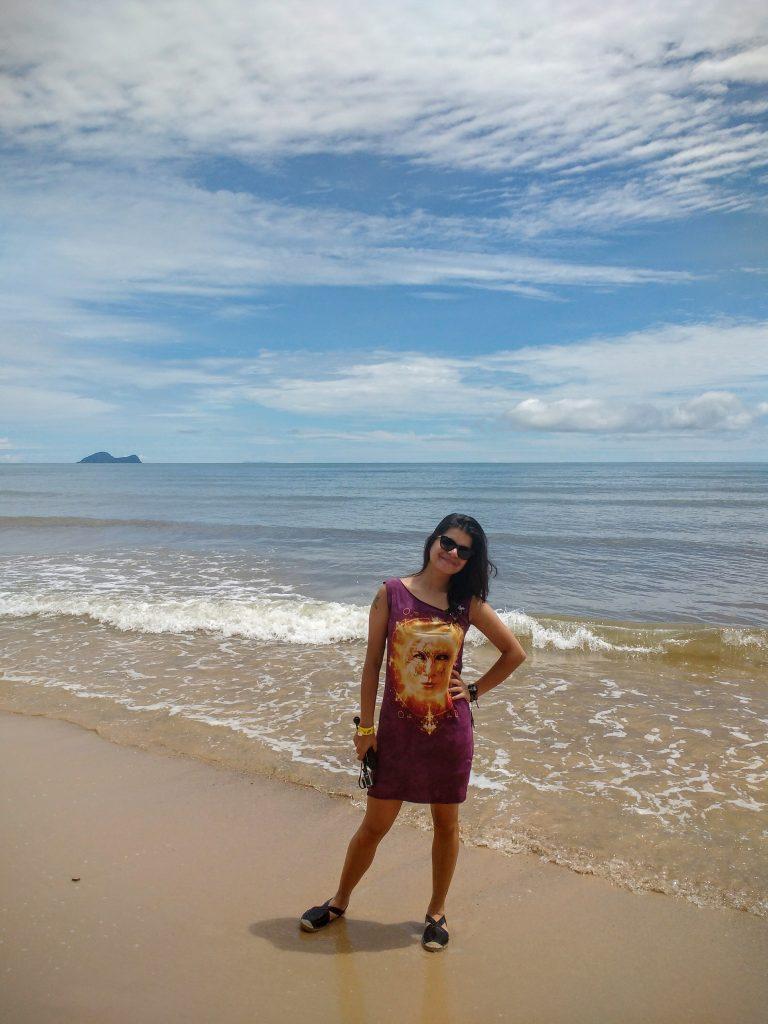 Chilling at Damai beach