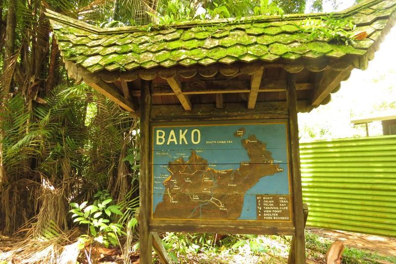 bako national park map