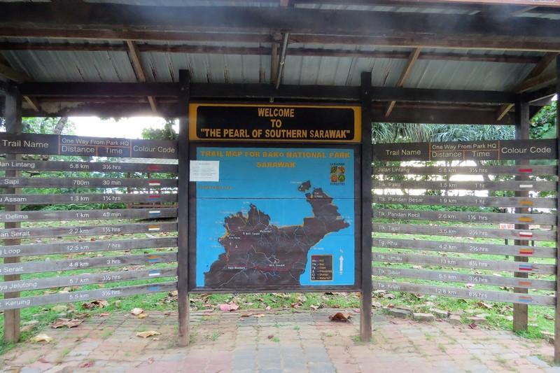 Bako National Park trail map