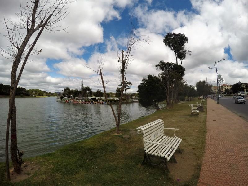 benches by the lake dalat