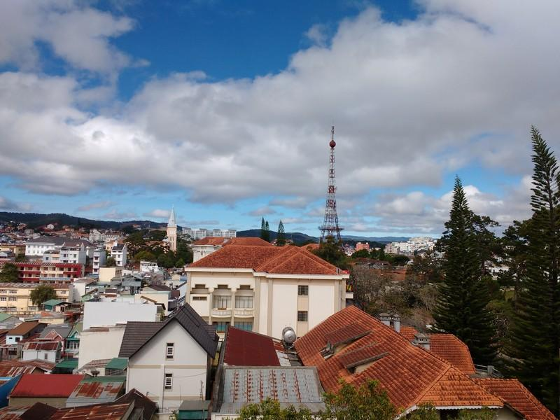 Rooftop view of Dalat