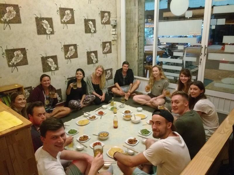 dinner in hostel