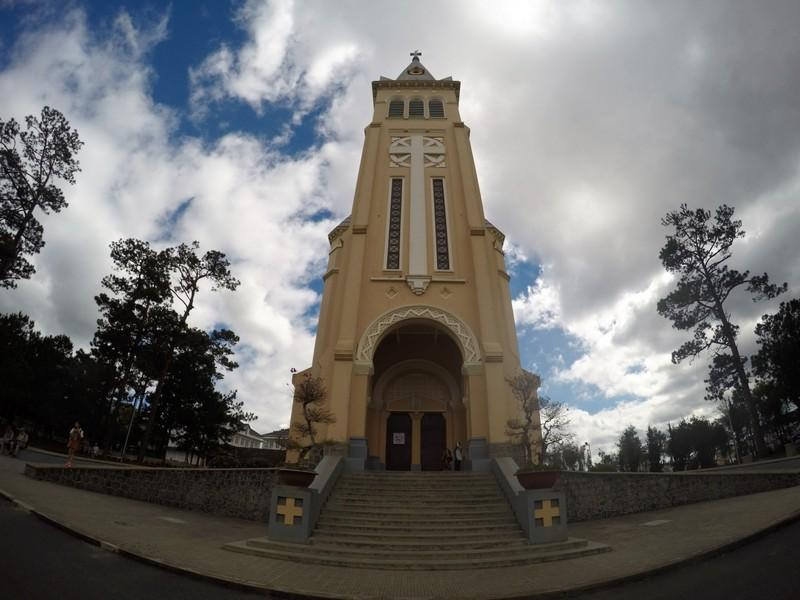 Chicken church on a wide angle