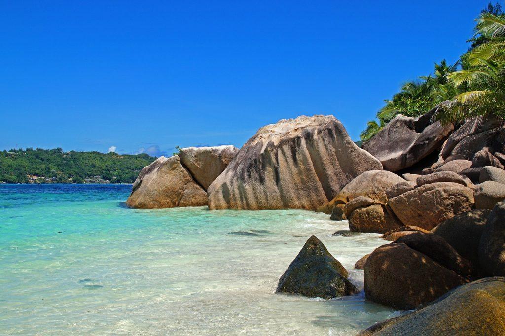 seychelles coast sea beach