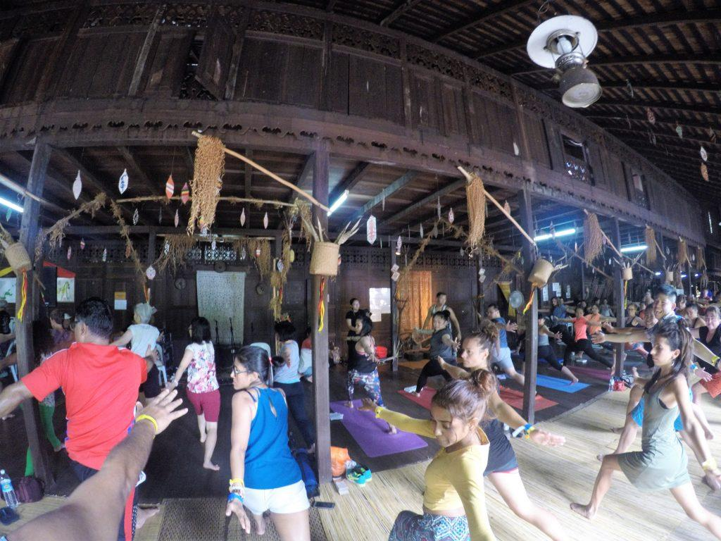 Yoga workshop at Iban Longhouse