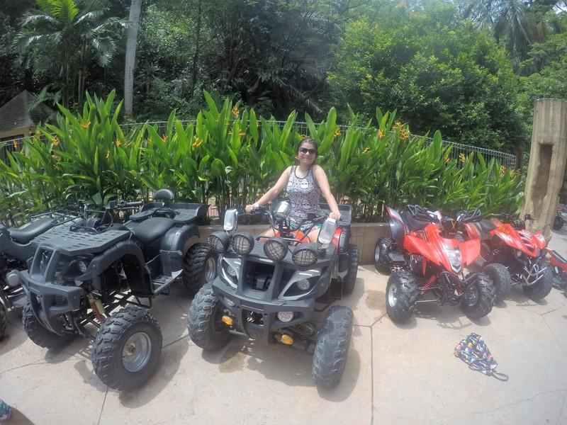 Posing with the ATV's