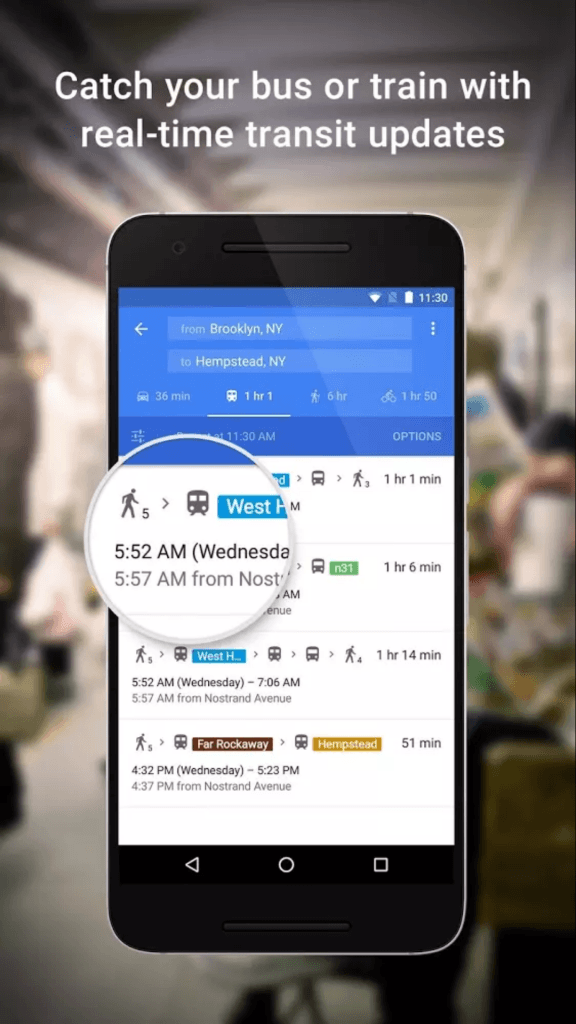 Google Maps Public Transport