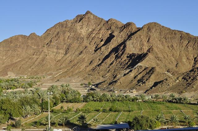 mountains of Fujairah