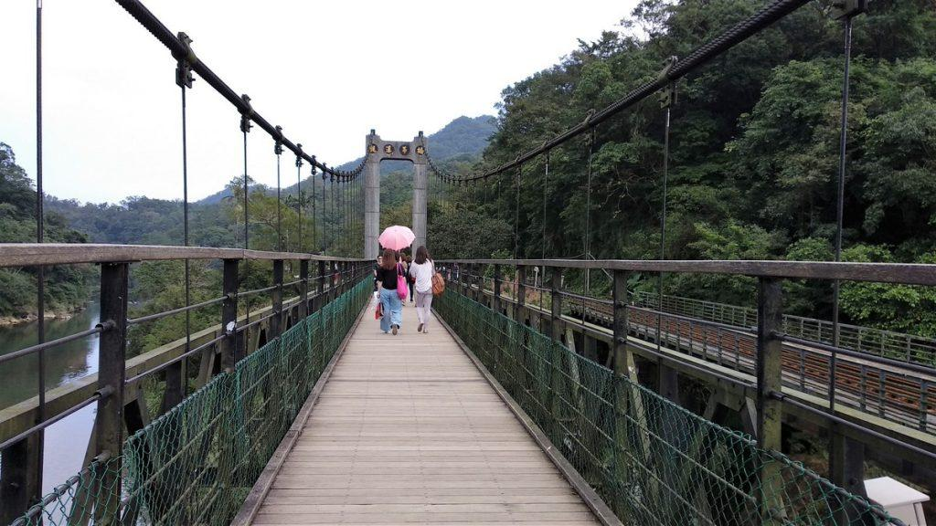 The lovely bridge you cross to reach Shifen waterfall