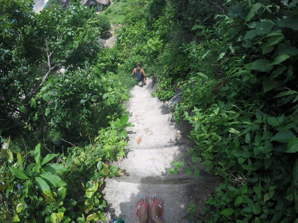 atuh beach stairs