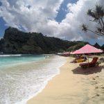 white sand beach nusa