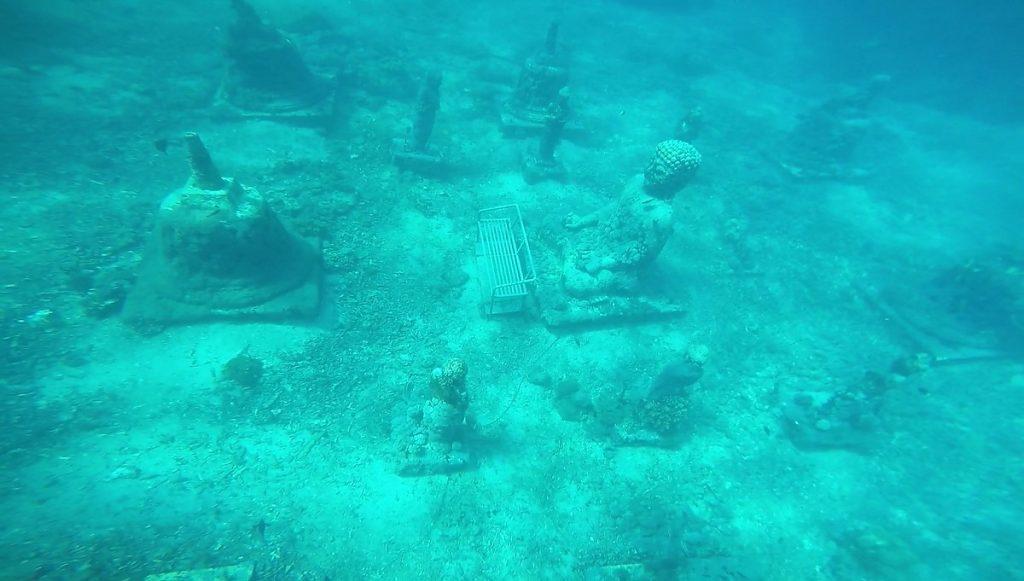 Underwater Buddha temple Nusa Penida