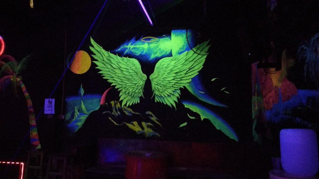 Neon decor at Leo club