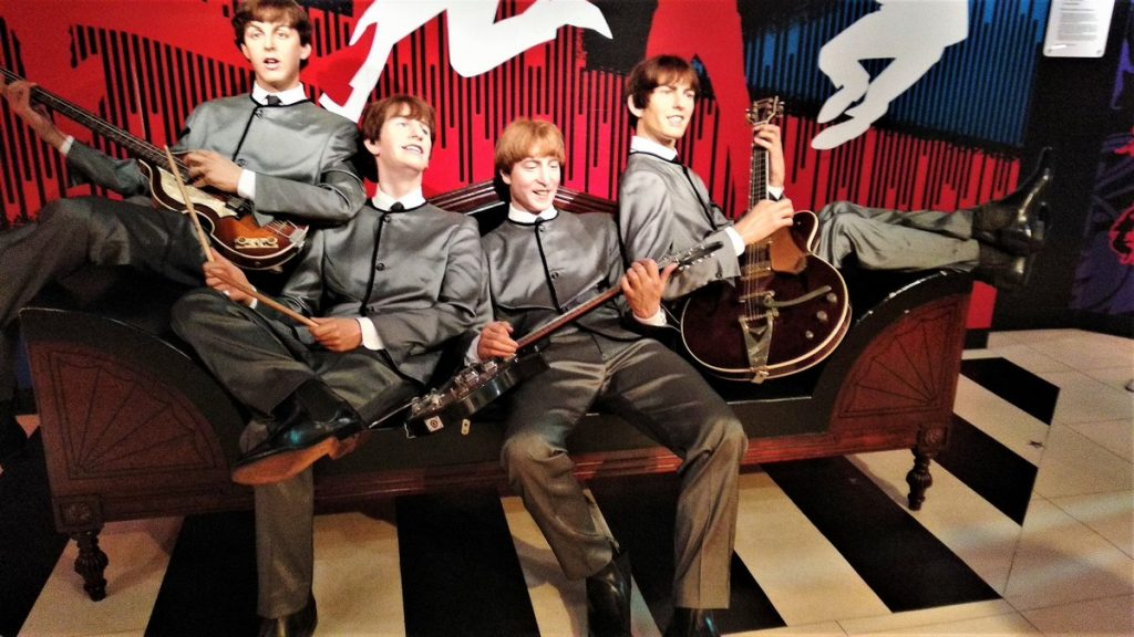 the Beetles at madame tussauds