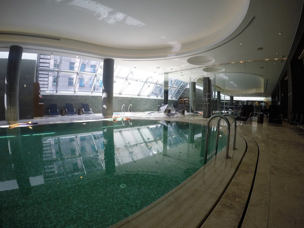 The lovely indoor pool at Swissotel