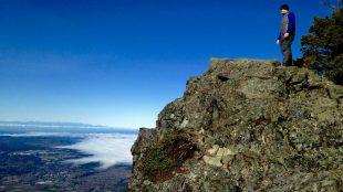 Hiker on Mount Si, Washington