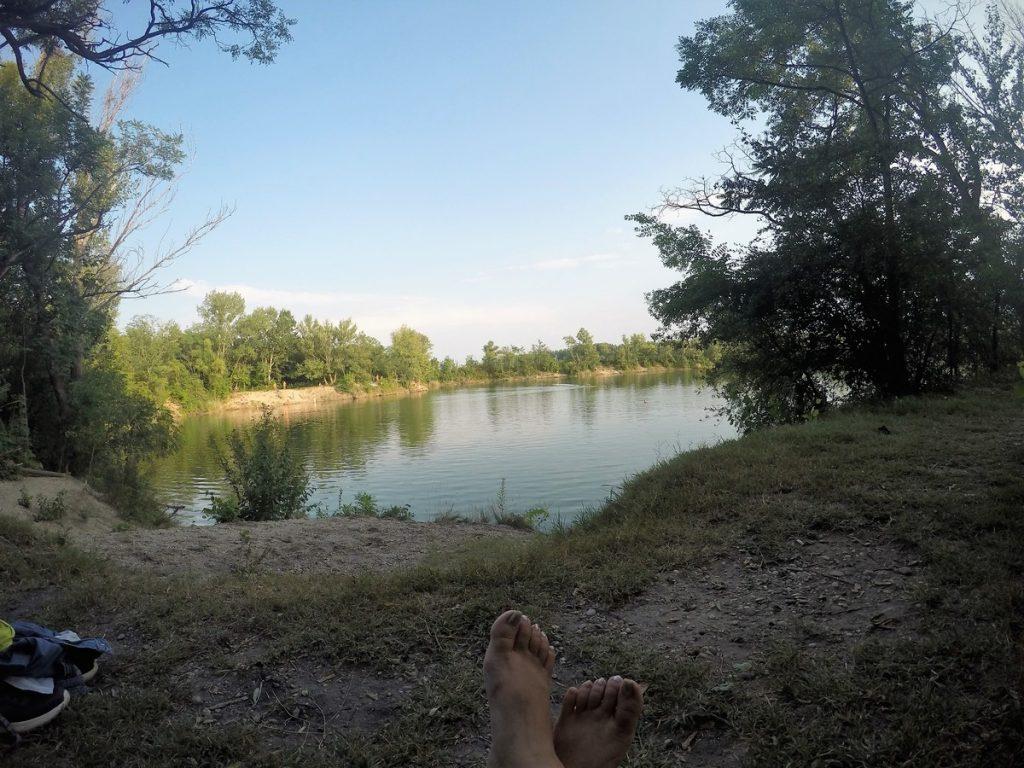 small Cunovo lake