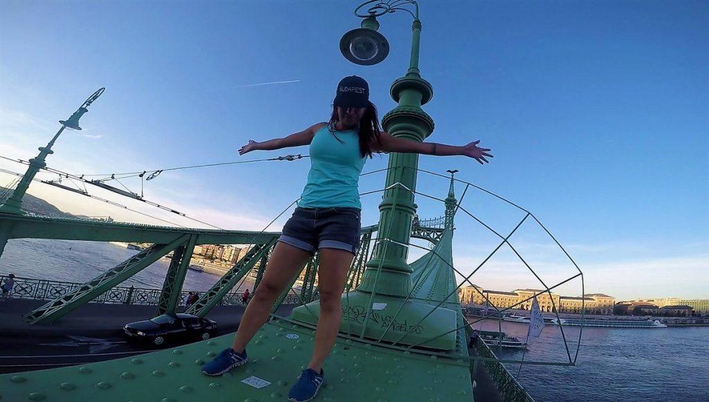 climbing liberty bridge