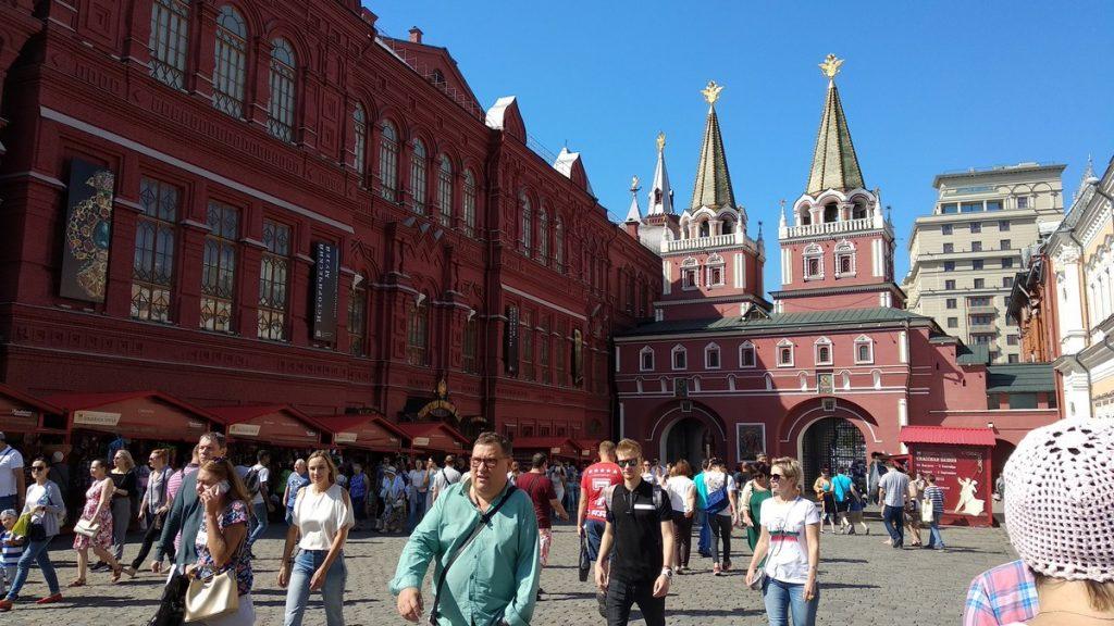 Walking around red square