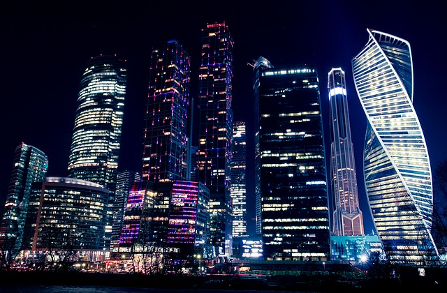 Moscow at night is quite a sight