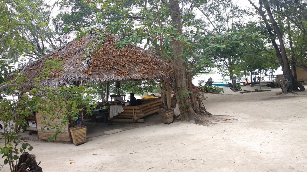 Lounge area at the resort pulau macan